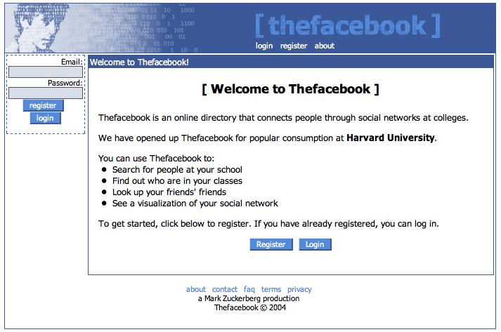Jak powstał Facebook? TheFacebook - pierwsza wersja Facebooka
